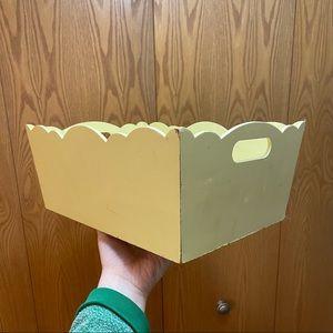 Cute buttercup yellow scallop edge decorative box